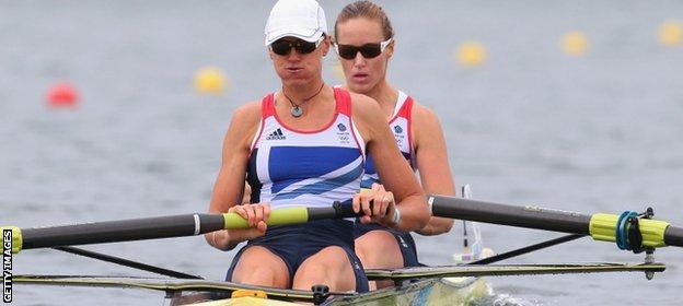 Heather Stanning and Helen Glover