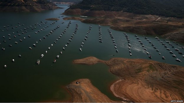 Impact of California drought on Lake Oroville