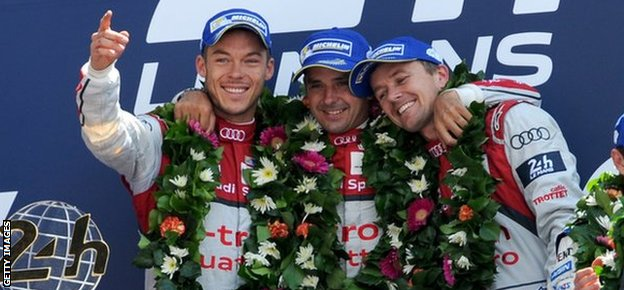 Andre Lotterer, Benoit Treluyer and Marcel Fassler