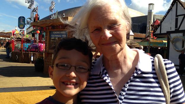Yvette Evans and grandson Finn