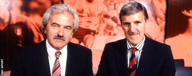 Des Lynam and Jimmy Hill