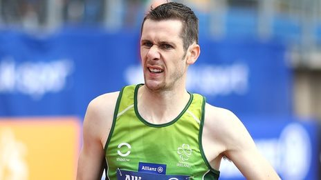 Michael McKillop finished over six seconds ahead of runner-up Russian Chermen Kobesov