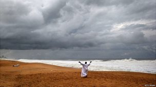 Liberian man prays for God to rescue the country from its ebola virus crisis