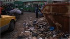 Rubbish on the streets of Bamako