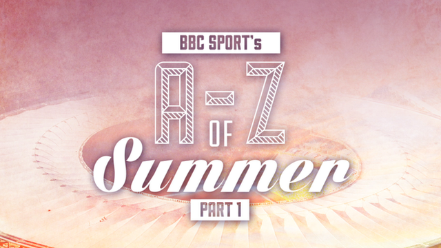 James Rodriguez, Luis Suarez and Rory McIlroy all feature in part one of BBC Sport's A-Z of summer