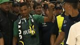 Nani arrives back in Lisbon