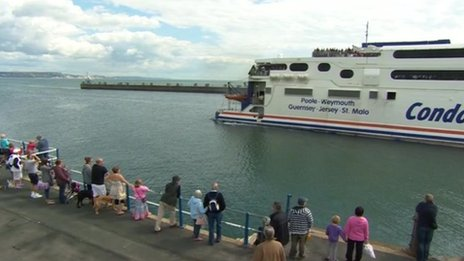 Condor ferry sailing out of Weymouth