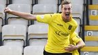 Jordan White celebrates after scoring for Livingston against Hearts
