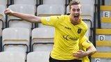 Jordan White celebrates after scoring for Livingston against Hearts