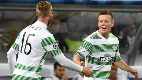Celtic players Jo Inge Berget
