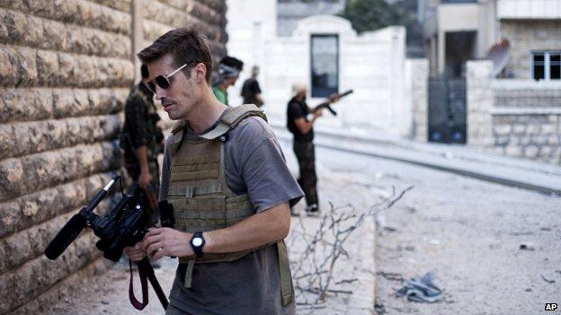 James Foley in Aleppo, Syria, in 2012