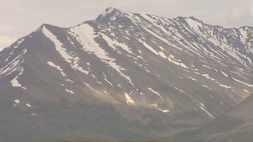 A range of mountains, as seen from the Deosai Plateau in northern Pakistan