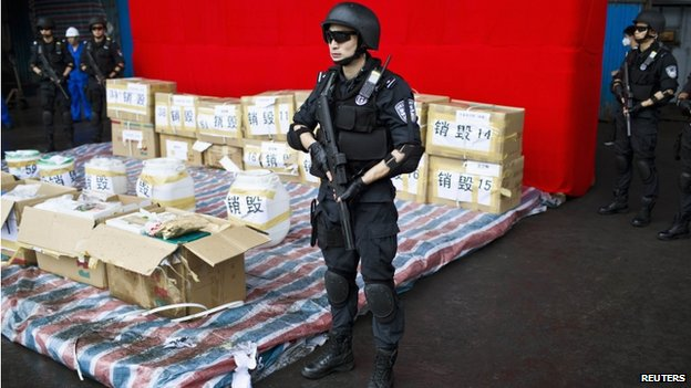 Authorities have intensified their crackdown on illegal drug use in China