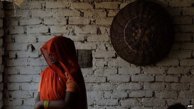 In this May 31, 2014, photo the grandmother of two girls who were gang-raped and murdered in Badaun