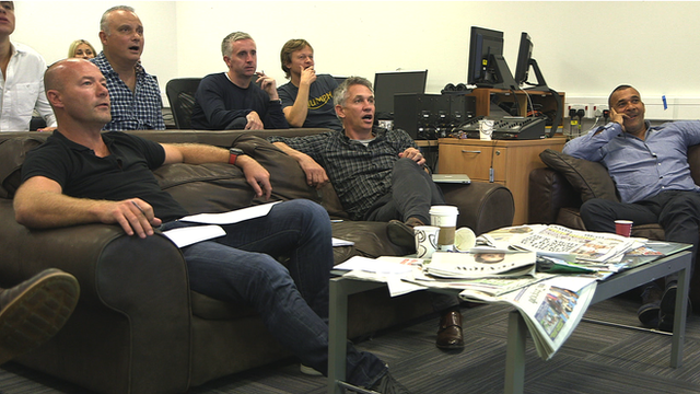 The Match of the Day team watch all the action on Saturday afternoon