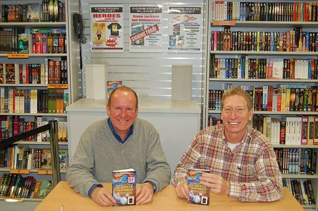 Ian Livingstone (left) and Steve Jackson more recently