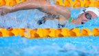 Jazz Carlin competes in 800m freestyle