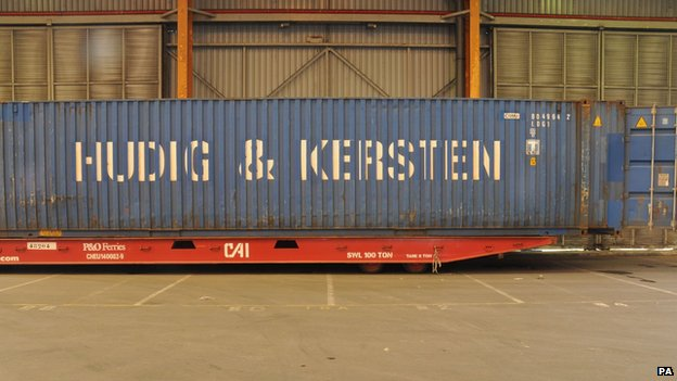 The container the group were found in