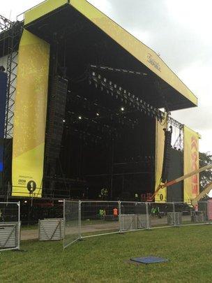 Leeds Festival stage