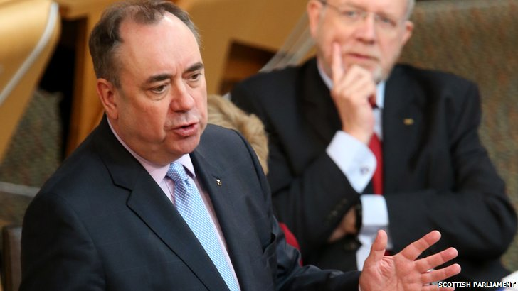 Alex Salmond at the Scottish Parliament