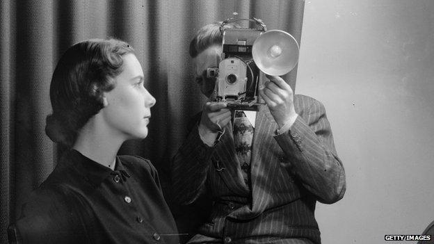 Early Polaroid camera in 1949