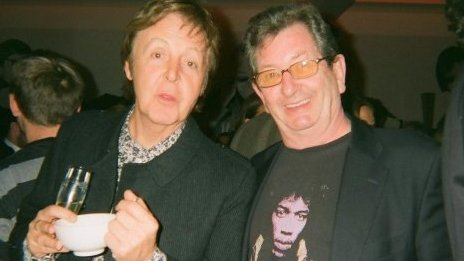 Paul McCartney and Dave Cash in 2009