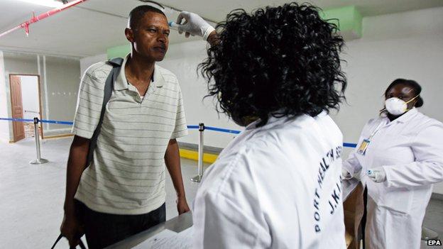 Passengers screened at Kenyan airport