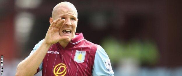 Aston Villa defender Philippe Senderos