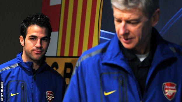 Arsene Wenger and Cesc Fabregas
