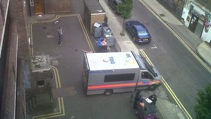 A dawn arrest is made by Met Police in London