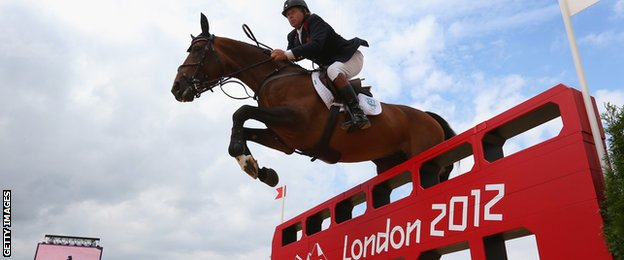 Nick Skelton of Great Britain riding Big Star in the Individual Jumping on Day 12 of the London 2012 Olympic Games at Greenwich Park