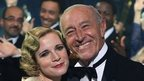 Lucy Worsley and Len Goodman dancing