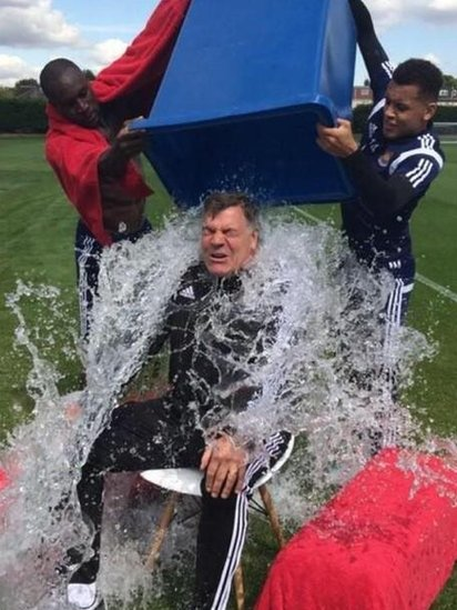 Sam Allardyce takes the ice bucket challenge