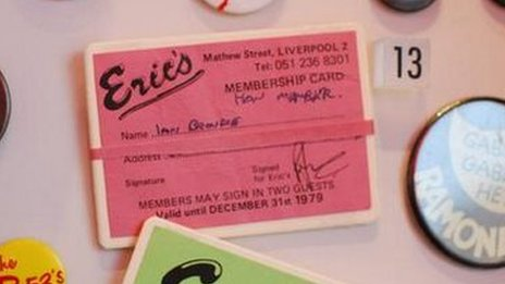 Ian Broudie's membership card for Eric's