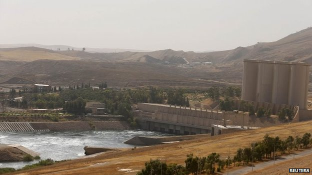 A general view is seen of Mosul Dam in northern Iraq, 21 August 2014