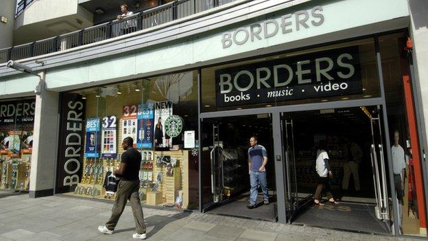 Borders shopfront