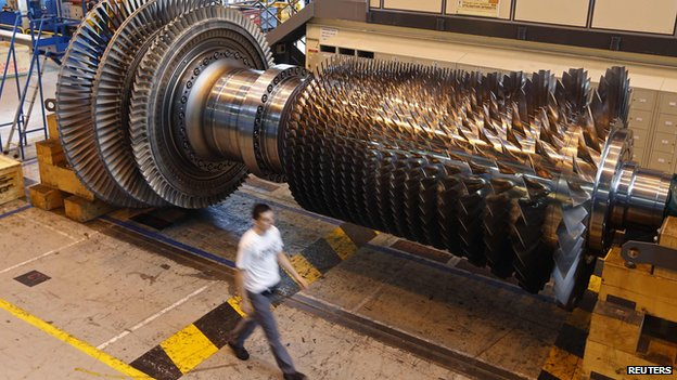 Gas turbine in General electric factory