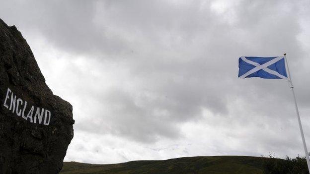 England - Scotland border