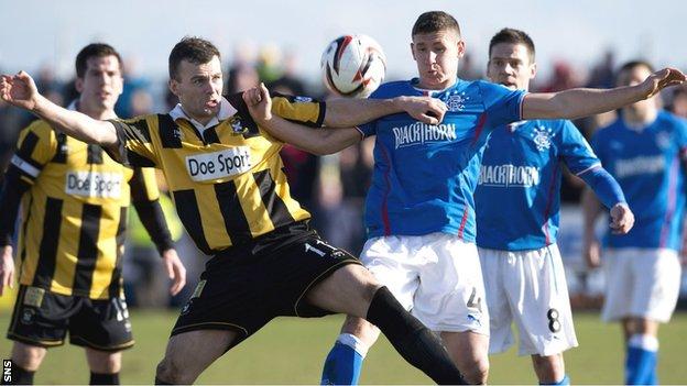 East Fife v Rangers