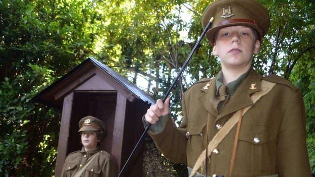 Boys on guard