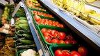 Fruit & veg on supermarket shelves