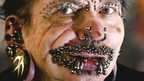 The world's most pierced man