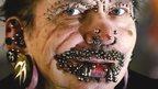 The world's most pierced man