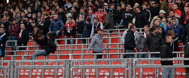 Hannover 96 stadium has safe standing areas