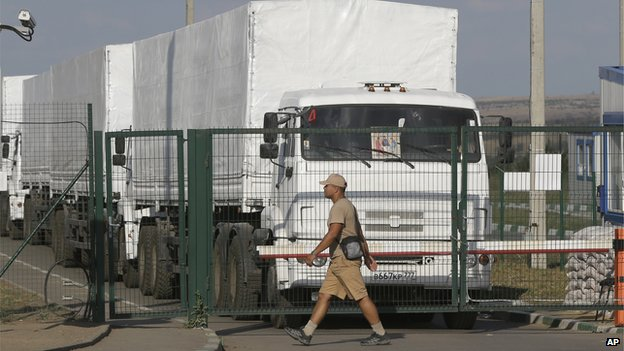 Russian convoy at border - 21 August 2014