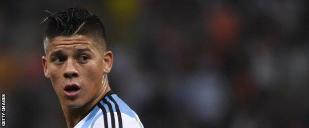 Argentina's defender Marcos Rojo
