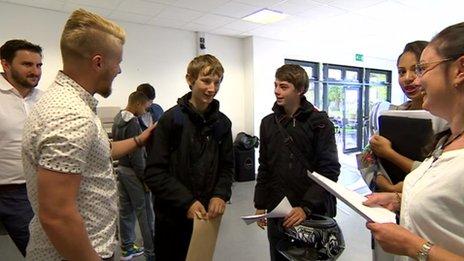 Leicester pupils collect GCSE grades