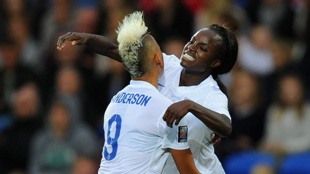 England's women have qualified for the World Cup in Canada next year after beating Wales 4-0 in Cardiff.