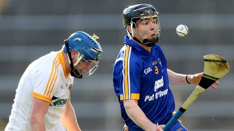 Clare's Tony Kelly produces a run in last year's All-Ireland Under-21 final against Antrim