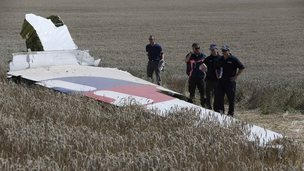 MH17 wreckage/investigators - 1 Aug 14